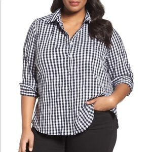 Foxcroft Plus Size Gingham Shirt